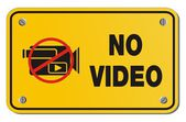 No video yellow sign - rectangle sign — Wektor stockowy