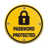 Password protected - round signs — Vector de stock