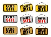 Enter site signs — Stock Vector