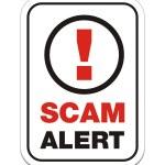 Постер, плакат: Scam alert sign