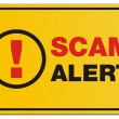 Постер, плакат: Scam alert yellow sign rectangle sign