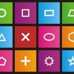 Shape - metro style icon sets — Stock Vector
