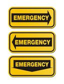 Emergency signs - yellow signs — Stock Vector