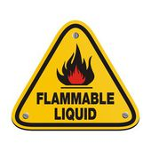 Triangle sign - flammable liquid — Stock Vector
