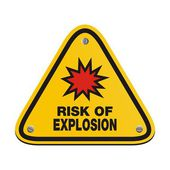 Risk of explosion - triangle sign — Stock Vector
