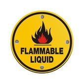 Round sign - flammable liquid — Stock Vector