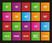 Sale metro style icons — Vetor de Stock