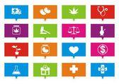 Medical marijuana rectangle pointers — Stock Vector