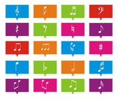 Music note rectangle pointers — Stock Vector