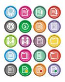 Business round icon sets — Stock Vector