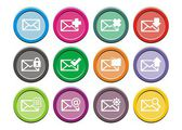 Messaging icons - round icon sets — Wektor stockowy