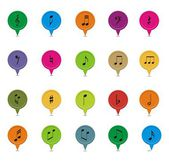 Music note pointers — Stock Vector