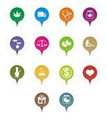 Medical marijuana pointer — Stock Vector