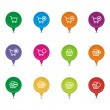 Colorful online shop pointer sets — Stock Vector #45835623