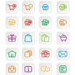 Colorful ecommerce icons — Stock Vector