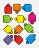 Square pointer, sticker style — Stock Vector