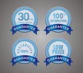 Guarantee badge blue — Stock Vector