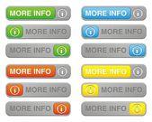 More info button sets — ストックベクタ
