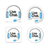 Live chat — Stock Vector