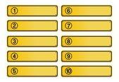 Antal steg, gula tecken stil — Stockvektor