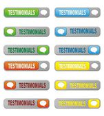 Set of testimonials button — Stock Vector