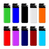 Colourful lighter — Stock Vector