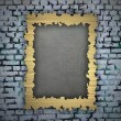 Gold frame on the wall — Stock Photo #37933405