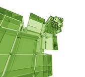 Sfondo di cubi 3d — Foto Stock
