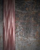 Rust background with pink nameplate — Stok fotoğraf