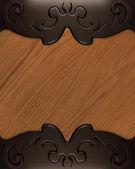端に茶色のパターンを持つ木材のテクスチャ — ストック写真