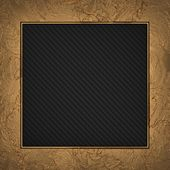 Gold frame isolated on carbon background — Stok fotoğraf