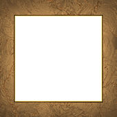 Gold frame with abstract white background — 图库照片