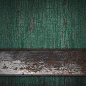 Rust Band on wood texture — Stock Photo