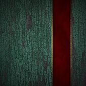 Old texture wood background with red texture stripe layout — ストック写真