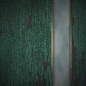 Old texture wood background with blue texture stripe layout — Photo