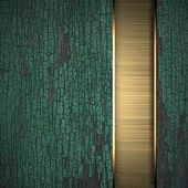 Old texture wood background with gold texture stripe layout — Photo