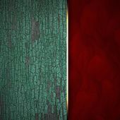 Old texture wood background with red texture stripe layout — 图库照片
