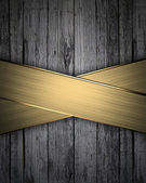 Wood texture Background with Golden Band — ストック写真