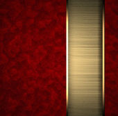 Red background with gold texture stripe layout — Stock Photo