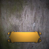 Old wall Background with Golden Band. Design template. — Stock Photo