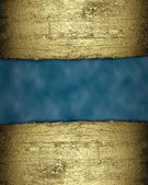 Blue background with a gold strip from the tree pattern — Stockfoto