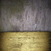 Old wall Background with a gold strip from the tree pattern — Stockfoto