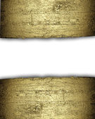 White background with a gold strip from the tree pattern — Stockfoto