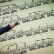 Stock Video: Musical Notation