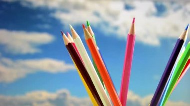 Colored pencils — Stock Video