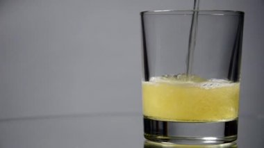 Beer is poured into a glass — Stock Video