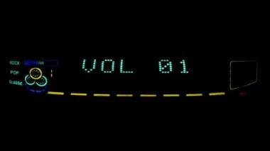Digital radio receiver tune dial panel. — Stock Video