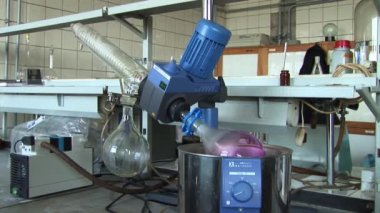 Mixing solution in a laboratory — Stock Video