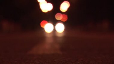 Headlights defocused — Vídeo Stock
