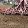 Stock Video: Tractor sowing cereals.